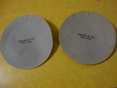 Pr. Vintage Tiffany & Co. Felt Plate Separators