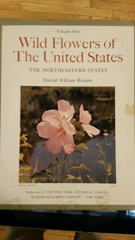 Wild Flowers of the United States Northeastern States by Rickett 1966 1st Ed