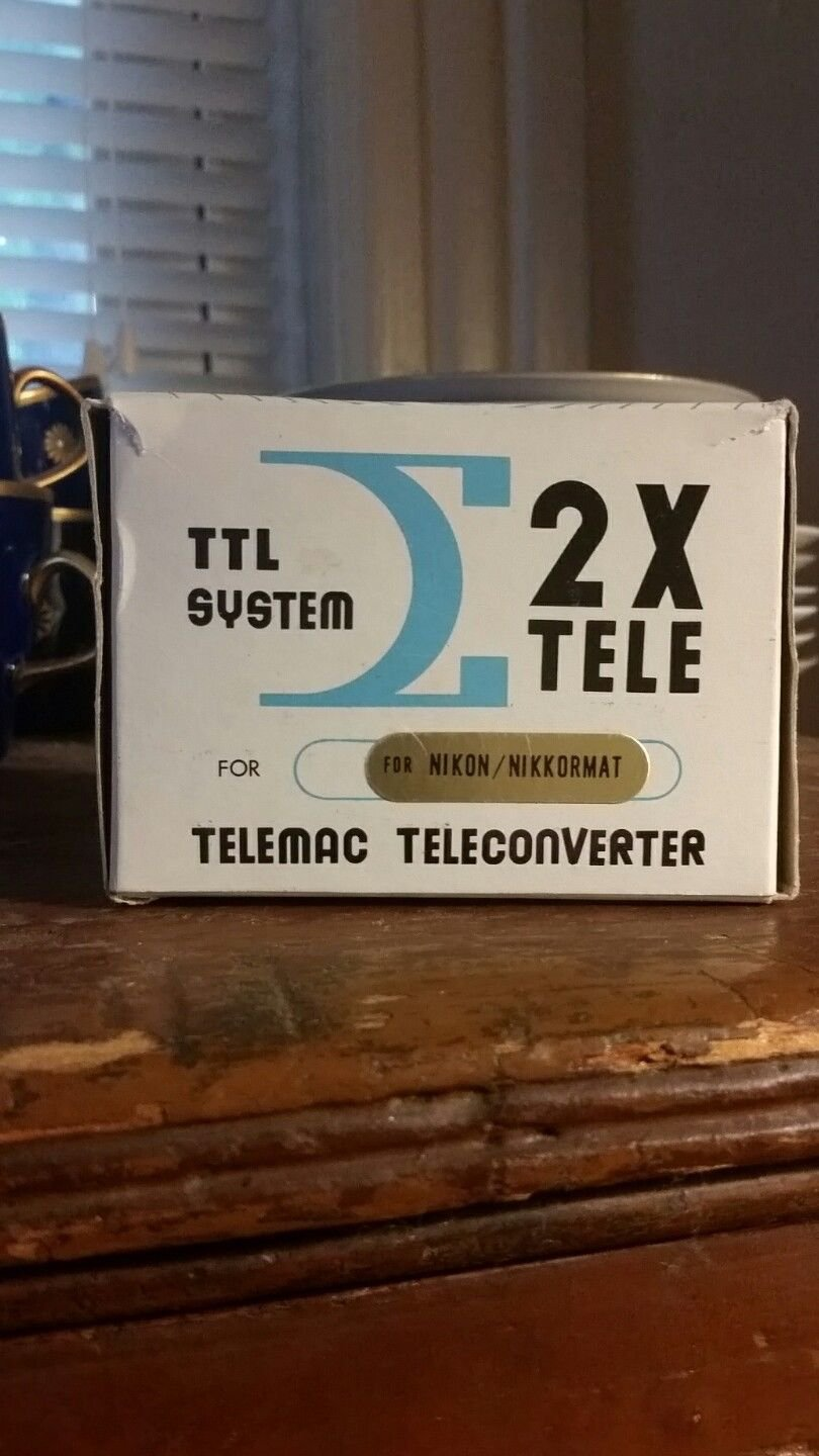 Vintage Telemac Converter for Nikon/Nikkormat by Sigma Japan
