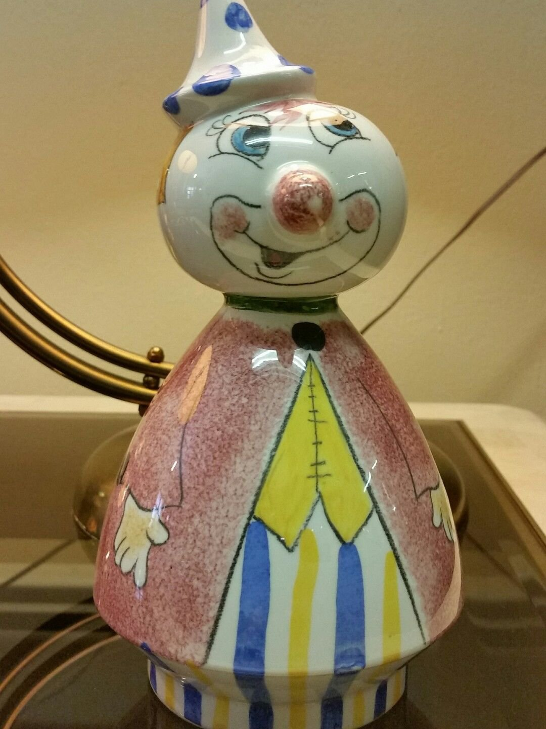 Vintage Made in Italy Ceramic Clown Bank