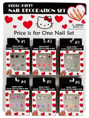 Hello Kitty Assorted Nail Decoration Set - FOR DESIGN #6 ONLY