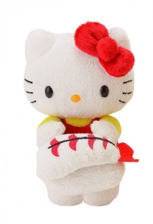Hello Kitty Shrimp Nigiri Sushi Mascot Plush