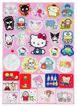Sanrio Friends Characters Sticker Sheet