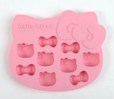 Hello Kitty Die-Cut Ice Cube Tray - Pink Fruits
