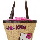 Hello Kitty Flower Woven Shoulder Tote