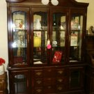 FURNITURE LARGE BEAUTIFUL CHINA CABINET HUTCH DARK WOOD