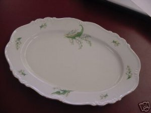 BAVARIA LILY OF THE VALLEY MARIA THERESIA PLATTER TRAY
