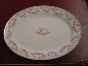 BEAUTIFUL NORITAKE NIPPON SERVING PLATTER PINK ROSES