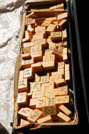 1950�s Mah Jong Bakelite Game. Black box