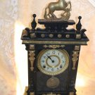 1910 Eight Day Movement Mantel Horse Clock w/ wind up key.