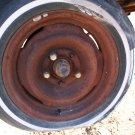 1967 Ford Mustang front 5 lug spindle, Hub (rotor), bearings, washer, nut and Cap LH Used