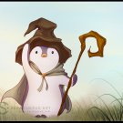 Penguin Mage - A5 postcard