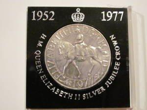 H M Queen Elizabeth Ii Silver Jubilee Crown 1952 1977