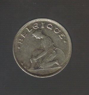 1933 Belgium 50 Centimes Coin