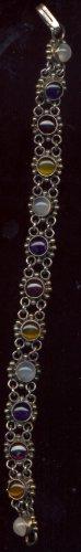 Sterling Silver  Multi Stone Bracelet
