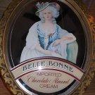 "16x20"" Belle Bonne chocolate almond cream liquer advertising mirror."