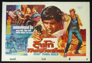 Original Fort Yuma Gold Thai Movie Poster Italian Cowboy Movie