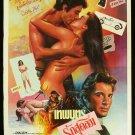 Original BREATHLESS Thai Movie Poster Richard Gere
