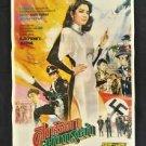 Orig. Vintage Black and White Thai Movie Poster Martial Arts Kung Fu