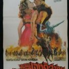 Original  Vintage The Conqueror 1956 Thai movie Poster John Wayne