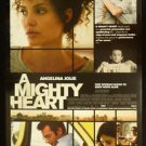 Orig. A Mighty Heart USA DS Movie Poster 27x40 Intl Angelina Jolie