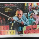 Rare Vintage  Thou Shall Not Kill Movie Thai Poster Matrial Arts Kung Fu