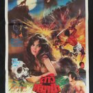 Rare Original Vintage The Wolf Girl  Thai movie Poster Werefolf Horror Action