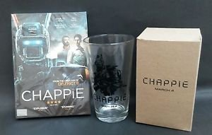 Limited Edition Chappie  Movie Glasses Cinemas Thailand only plus DVD