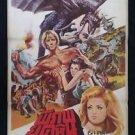 Rare Original Vintage Machiste and the Monster Thai movie Poster 70'