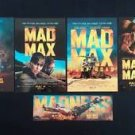 Official Mad Max Fury Road Set of 4 Studio Movie Postcard + 1 Bookmark Tom Hardy