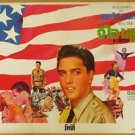 Rare Vintage G I Blue Thai Movie Poster Elvis Presley Painted by Tongdee Artist