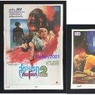 Rare Vintage Set of 3 Nightmare on Elm Street Thai movie Poster Monster Horror