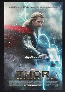 Orig Thor The Dark World Movie Poster DS 27x40 Chris Hemsworth