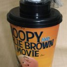 Limited Snoopy The Movie 2015 Figure Topper toy and cup New 44 Oz Charlie Brown