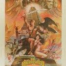 Orig Beastmaster 1982 Thai Movie Poster Tanya Roberts Don Coscarelli Rip Torn
