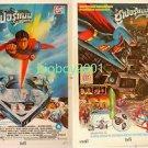 Orig Vintage Superman 1 + 2 Thai Movie Poster  Christopher Reeve 1978 No Blu Ray