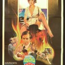 Vintage The Postman Always Rings Twice 1981 Thai Movie Poster No Blu Ray DVD