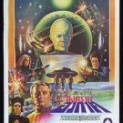 Orig. Starship Invasions 1987 Thai Movie Poster Robert Vaughn Christopher Lee