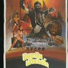 Ori Vintage Ninja The Final Duel 1996 Thai Movie Poster  Alice Tseng Alan Lee
