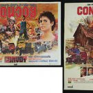 Vintage Convoy 1978 Set of 2 Thai Movie Poster Kris Kristofferson Sam Peckinpah