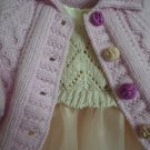 Cardi baby pink embroidered buttons