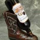 Western Boot wine bottle holder