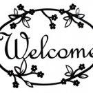 Floral welcome sign