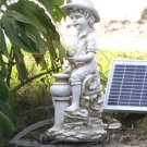 Boy pond spitter solar powered