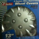 13&quot; 1st Auto 4 Custom Alloy Appearance Wheel Covers (ABS Plastic)