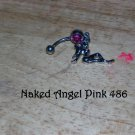 Naked Angel Pink CZ Navel 486