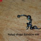 Naked Angel Rainbow CZ Navel 486