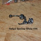 Naked Lady Reclining White CZ Navel 488