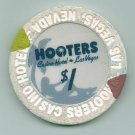 $1 Dollar Hooters Obsolete Las Vegas Casino Chip