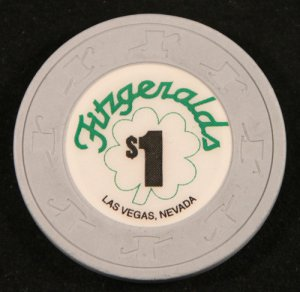 $1 Fitzgeralds Casino Chip in Downtown Las Vegas
